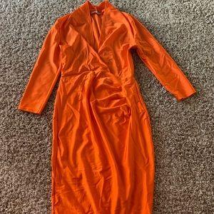 Orange club dress